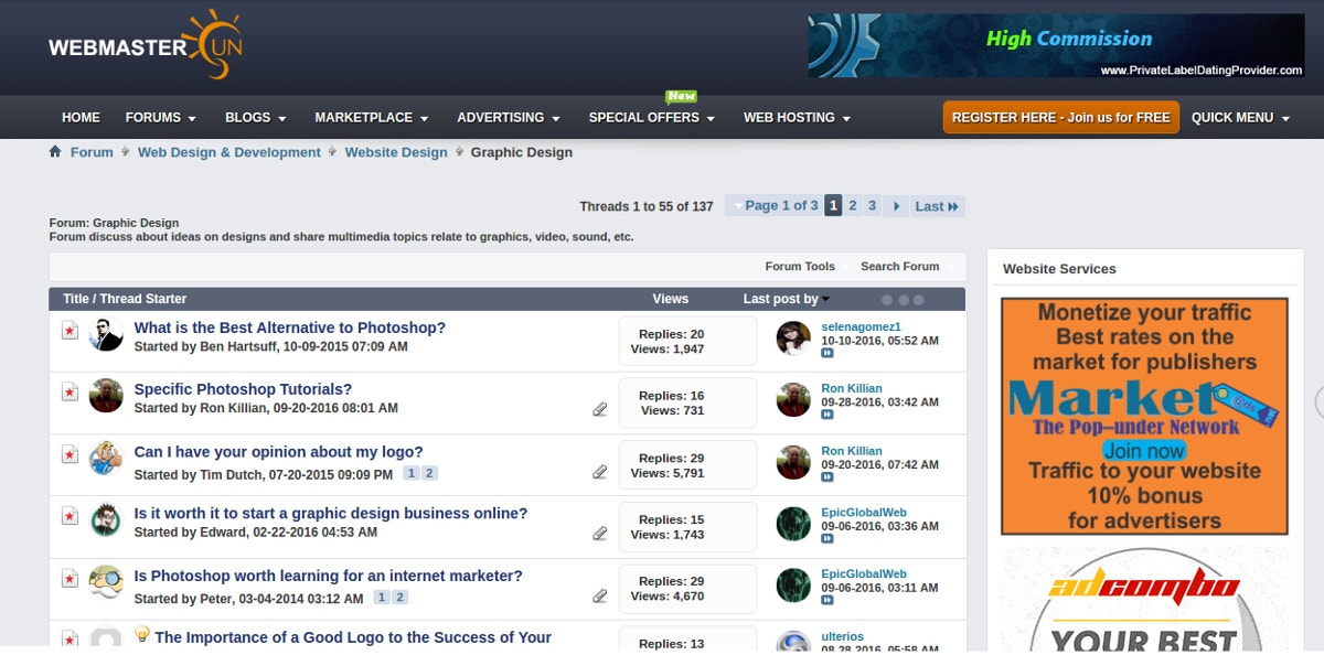 14+ Top Graphic Design Forums | Free & Premium Templates