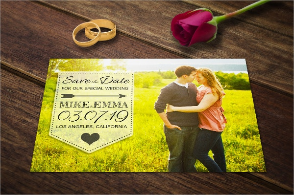 Save the Date Weddig Invitation Template