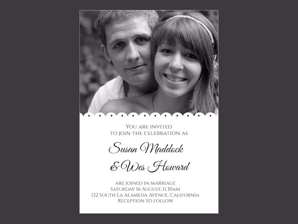 Printable Wedding Invitation Template Design