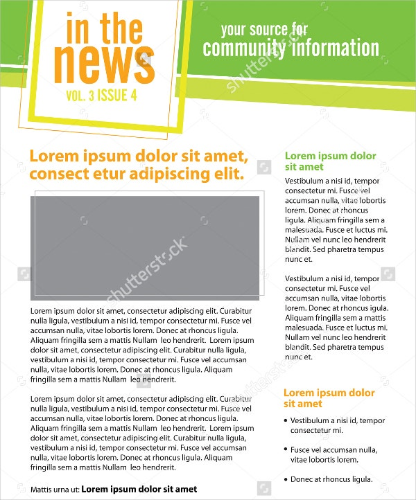 Newsletter Template - 15+ Free Psd, Ai, Vector, Eps Format