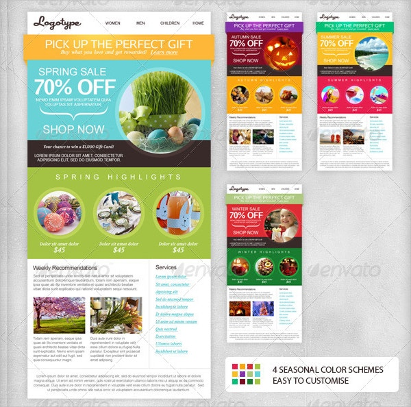23 newsletter templates free psd ai vector eps format download