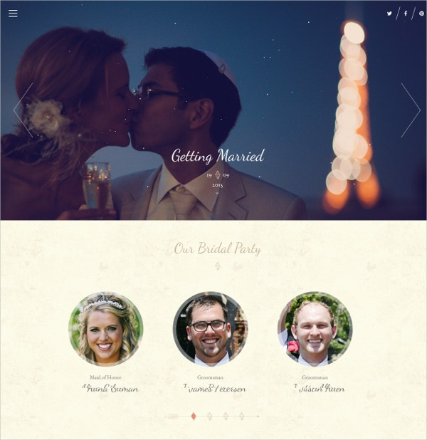 Family Wedding Drupal Website Theme $43