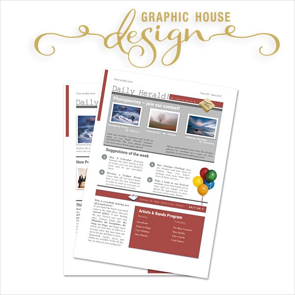 microsoft word newsletter template