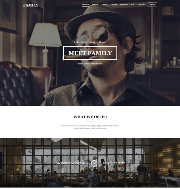 Family Multipurpose Responsive Bootstrap Website Template $11