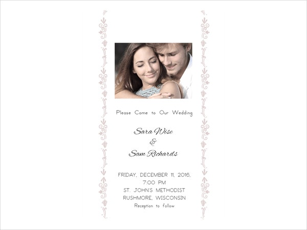Simple Beauty Printable Wedding Invitation Template