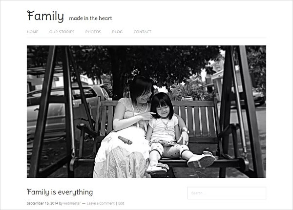 Minimalist Responsive Family Website Theme