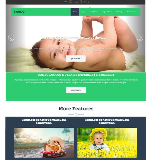 Family HTML Website Template