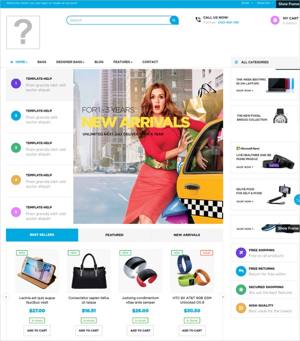 Family Store WordPress Website Theme $69