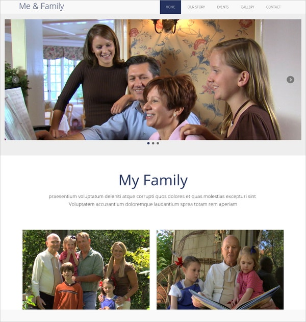 Family Multipurpose HTML Website Template $9