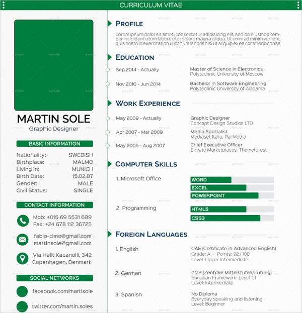 Clean Multipurpose Resume Template