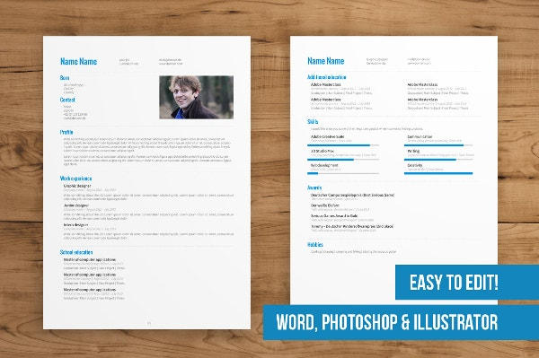 2Page Creative Resume Template