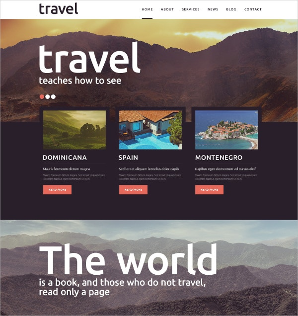 Travel Spot Joomla Website Template$75
