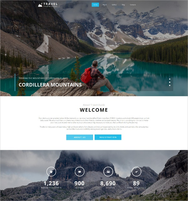 Travel Moto CMS Website Template $75