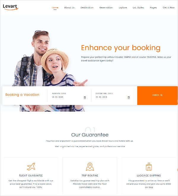 Joomla Hotel & Travel Website Template $48