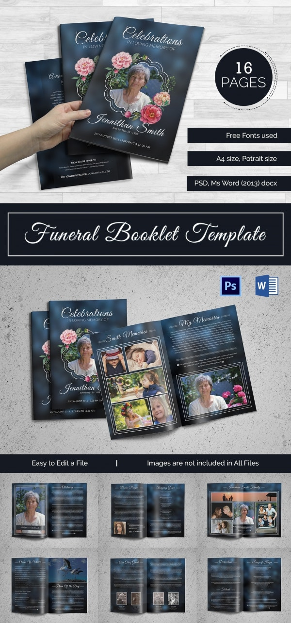 5 Funeral Booklet Templates Word PSD Format Download Free