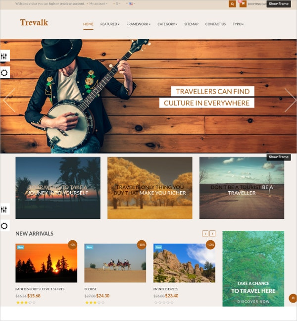 Travel Bootstrap Website Theme $69