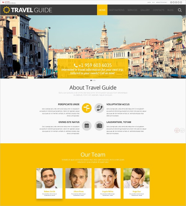 Travel Guide WordPress Website Theme $75