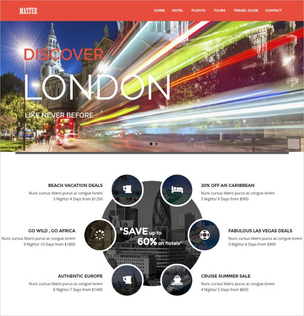 Travel Theme for Drupal Website $48