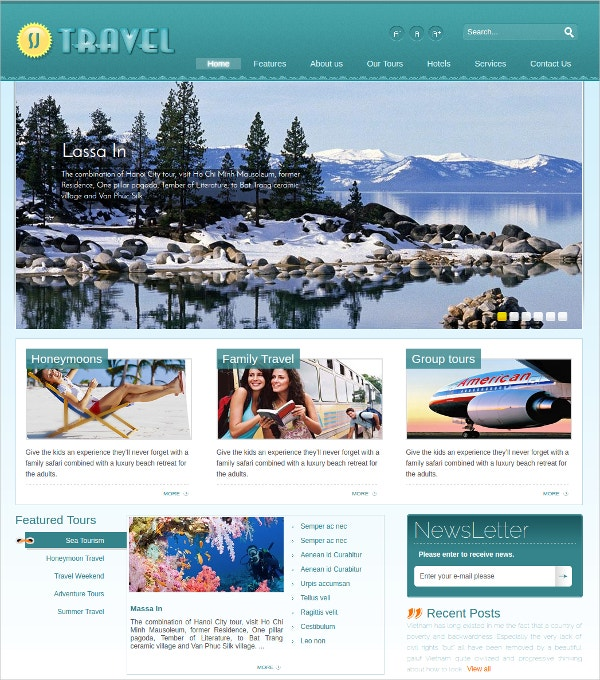 Travel Joomla Website Template$39