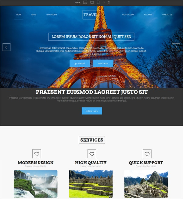 Travel Trip website Template