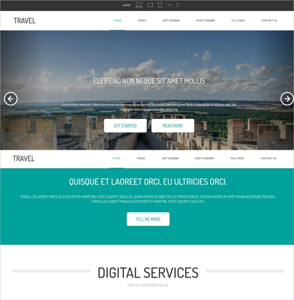 travel html website template