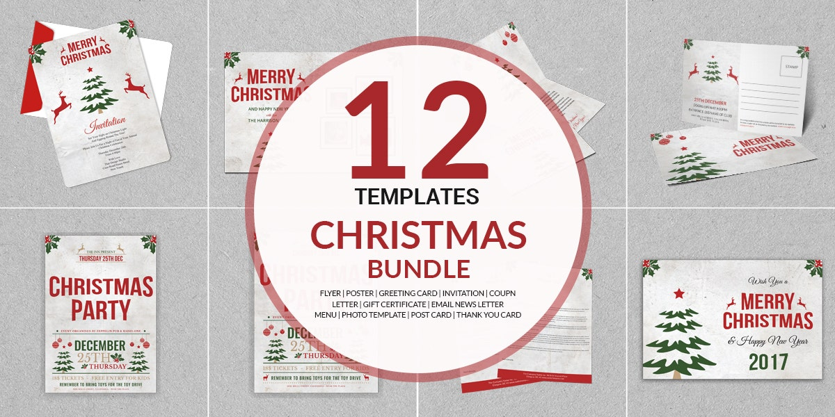 12 Christmas Packages Bundle