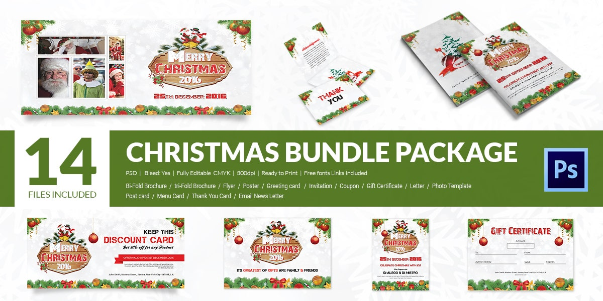 12 Merry Christmas Master Collections Bundle