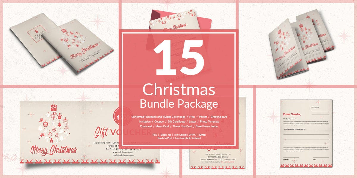 15 Christmas Bundle Package