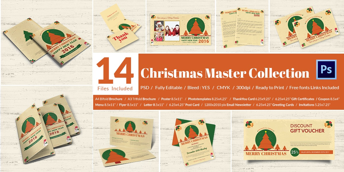 14 Christmas Master Collections Bundle