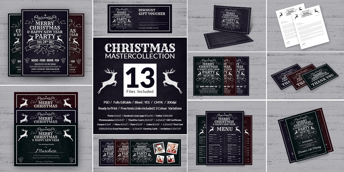 Christmas and New Year Master Collections Bundle