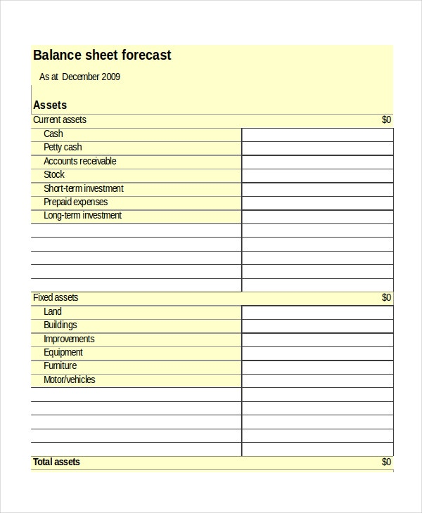 Business & Financial Plan Template Excel