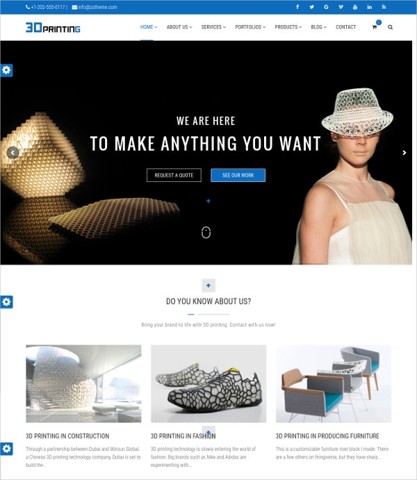 3d printing wordpress theme
