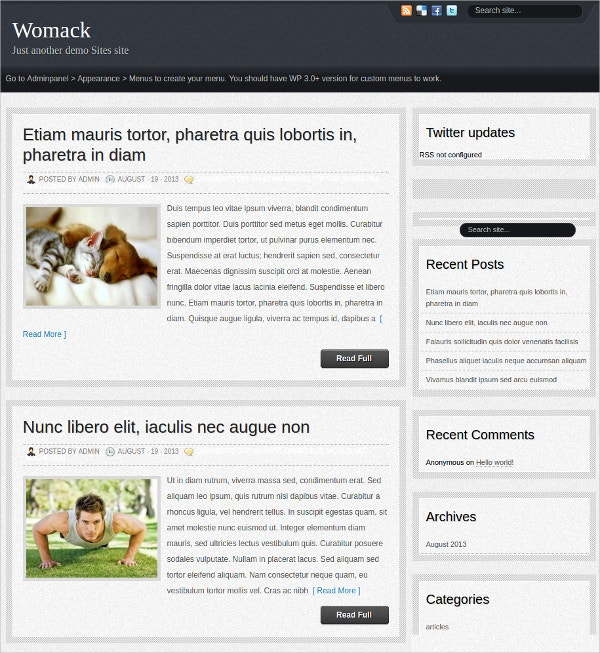 3D Slider WordPress Theme