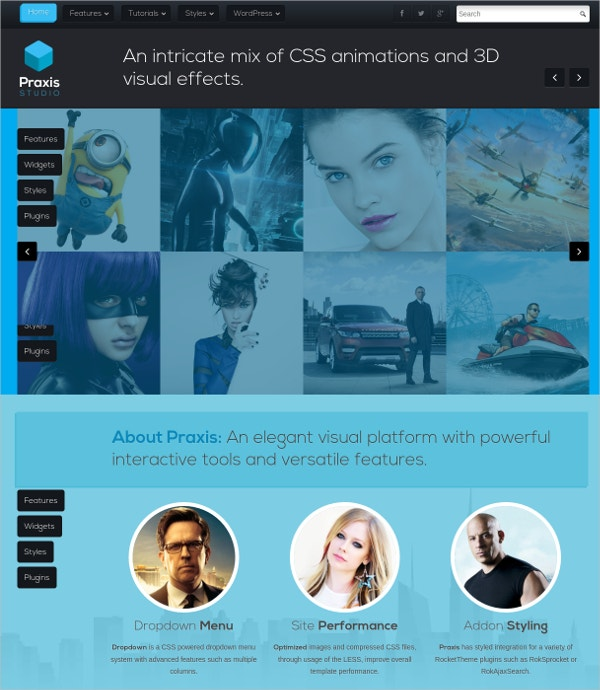 3d visual wordpress theme