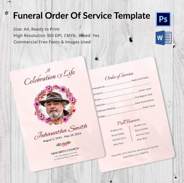 Superior Premium Funeral Order Of Service Template Ideas Order Of Service Template Free