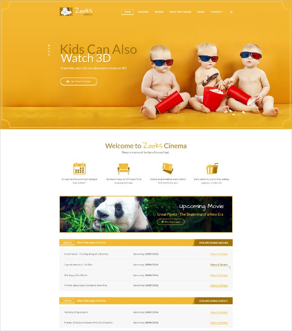 Kids Club PSD Website Template $12