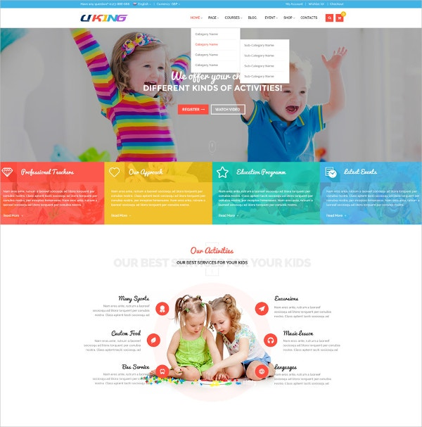 Kindergarten Joomla Website Template $48