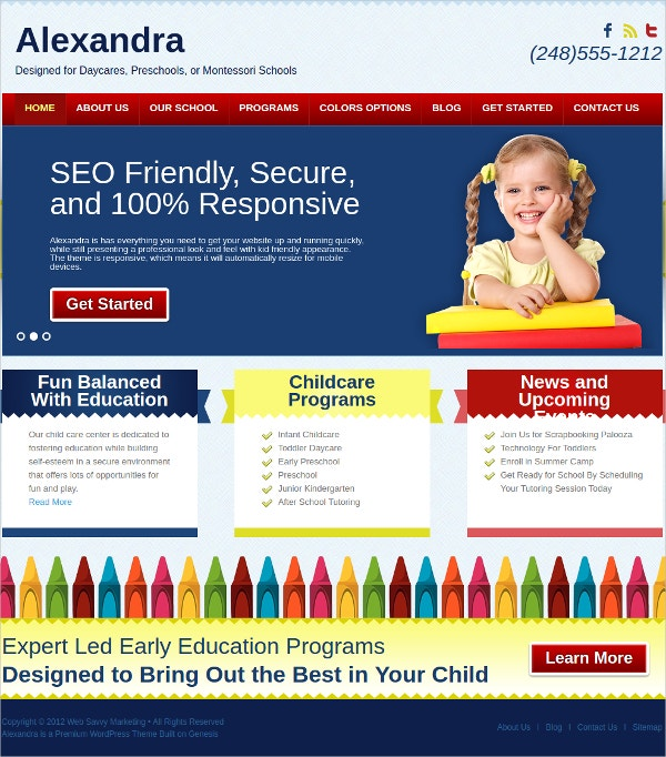 Premium Kids Website Template