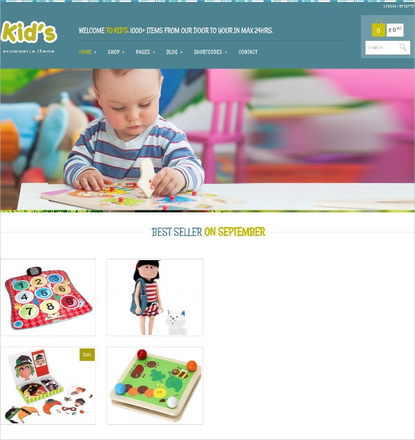 Kids eCommerce Website Template