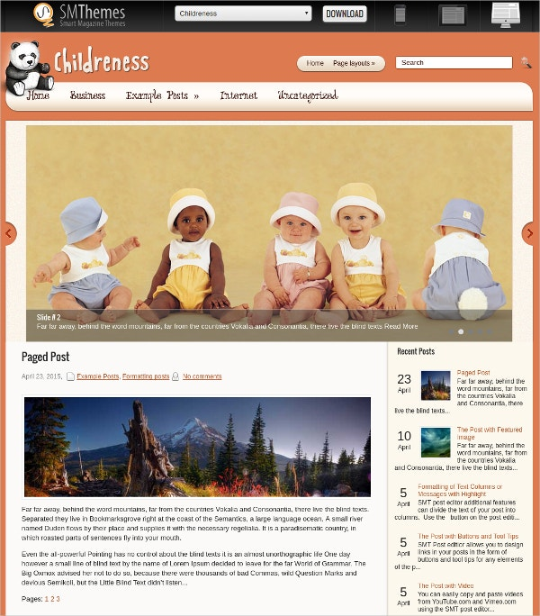Free Kids & Children WordPress Website Theme