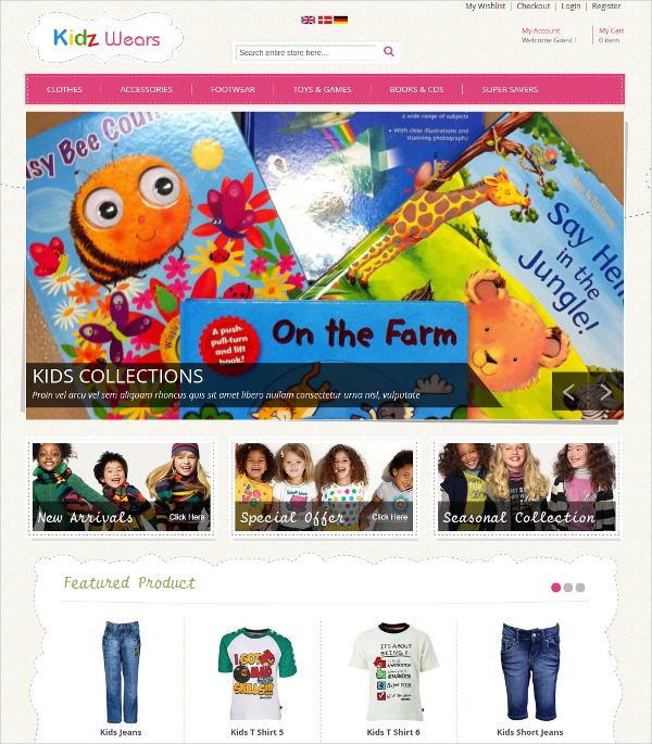 Kids Store Magento Website Theme $75