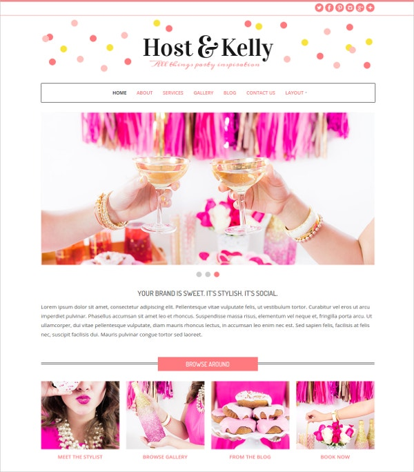 Kids Party Planning WP Website Theme $79