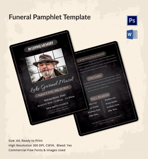 Premium Funeral Pamphlet Template