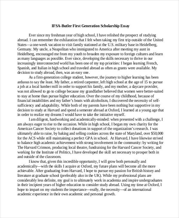 scholarship essay examples premium templates scholarship example for studying abroad