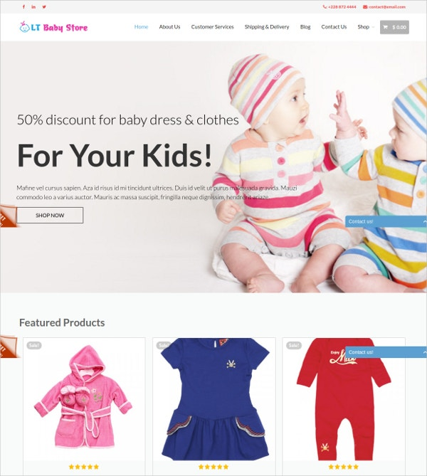 Baby & Kid Store WP Website Theme