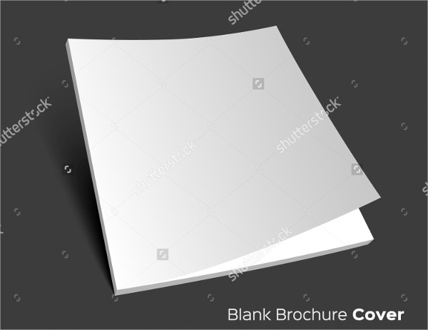 3D blank brochure cover