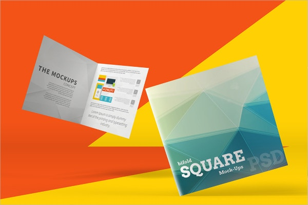 3D Square Bi-Fold Brochure