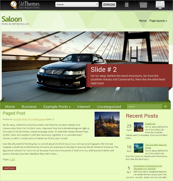awesome automobile wordpress website template