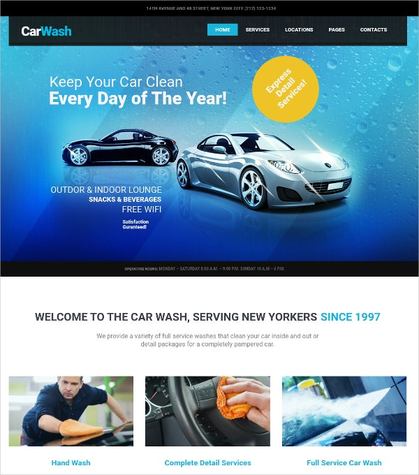 Auto Mechanic & Repair Shop WP Website Theme $49