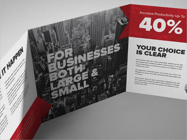3D Square Tri-fold Brochure